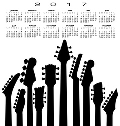 2017 creative guitar calendar vector