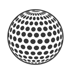 Golf ball isolated icon vector