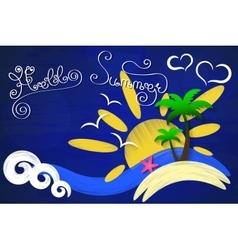 Hello summer sun vector image