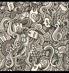 cartoon cute doodles hand drawn sale seamless vector image