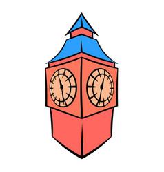big ben in london icon cartoon vector image