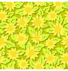 sunflower flower seamless background vector image
