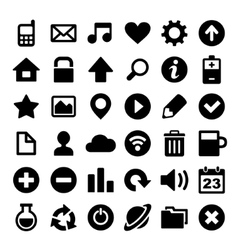 Universal simple web icons set vector
