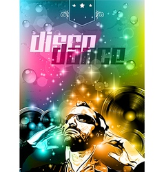 Club background for disco dance international vector image