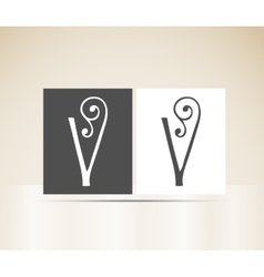 Retro alphabet letter v art deco vintage design vector