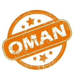 Oman grunge icon vector