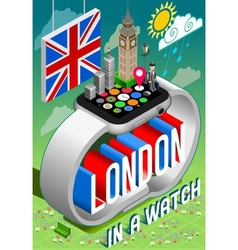 London in a watch vector