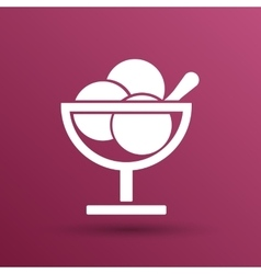 Logo with three balls ice cream food vector