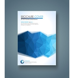 Brochure template flyer design and depliant cover vector