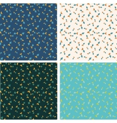 Different color fish seamless pattern set vector image