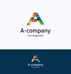 A-company logo vector image