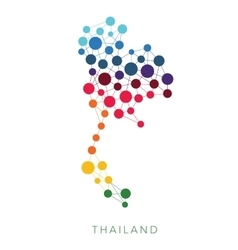 dotted texture Thailand background vector image