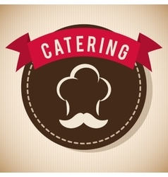 Catering and chefs hat design vector