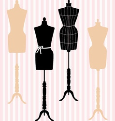 Mannequin Silhouette Fashion Dress Form vector image