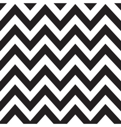 Classic zigzag lines pattern on black vector