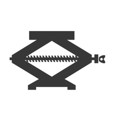 Jack tool icon construction and repair design vector