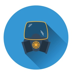 Icon of chemistry gas mask vector