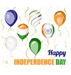 Happy independence day of india design vector