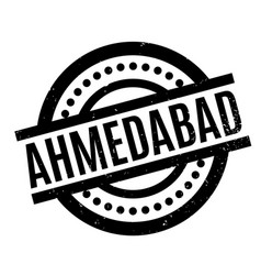 Ahmedabad rubber stamp vector