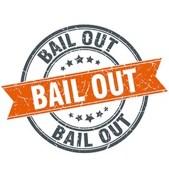 Bail out round orange grungy vintage isolated vector