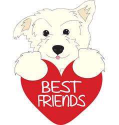 Best Friends Pup vector image