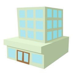 building icon cartoon style vector image vector image