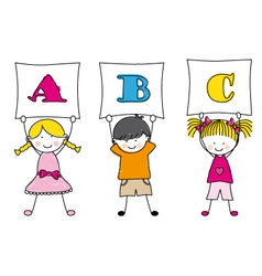 children alphabet vector image vector image