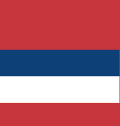 Civic flag of serbia - tricolor vector