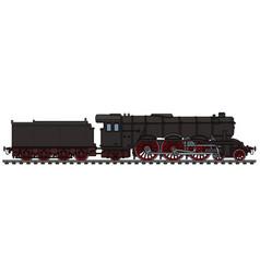 Classic black steam locomotive vector