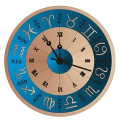 clock zodiac vector image vector image
