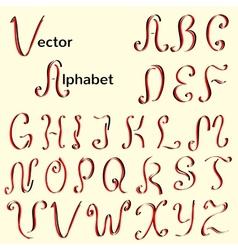 English vintage calligraphic alphabet vector image