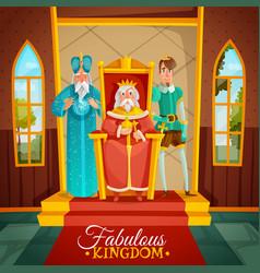 fabulous kingdom cartoon vector image