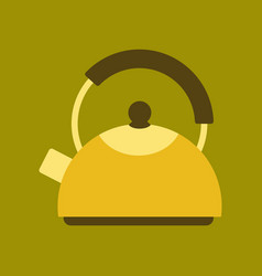 Flat icon on background coffee dishware kettle vector