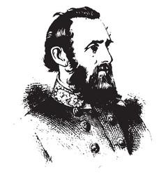 General thomas j jackson vintage vector