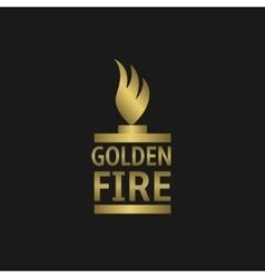 Golden fire vector