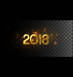 happy 2018 new year vector image