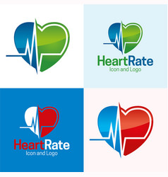 heart rate vector image vector image