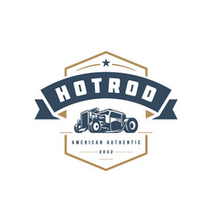 Hot rod car logo template design element vector
