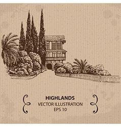 House in the Garden vector image vector image