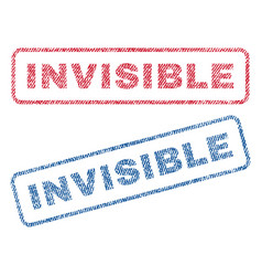 Invisible textile stamps vector