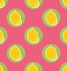 Lemon pattern Seamless texture with ripe lemons vector image