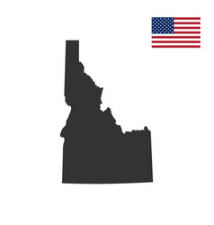 map of the us state of idaho vector image vector image