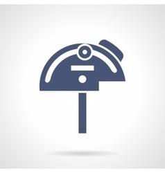Mechanical protractor glyph style icon vector image