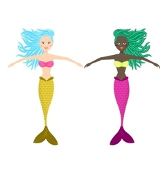 Mermaid cute girl vector image