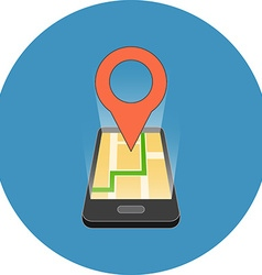 Mobile GPS navigation concept Isometric design vector image