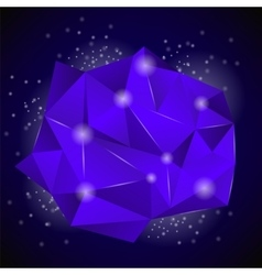 PinkBlue Polygonal Stone vector image vector image