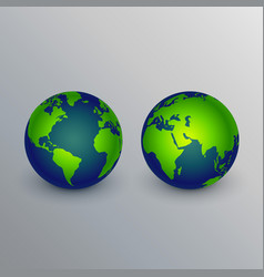 Realistic earth icons sign design vector