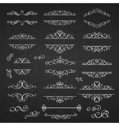 Swirls vintage design elements vector