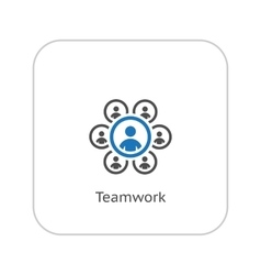Teamwork Icon Business Concept Flat Design vector image vector image
