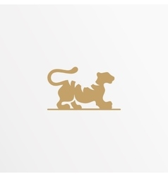 Tiger logo design template Cat vector image